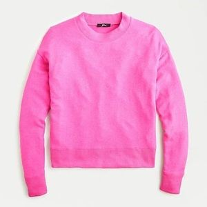 J. Crew Margot Crew Neck Sweater Brilliant Azalea